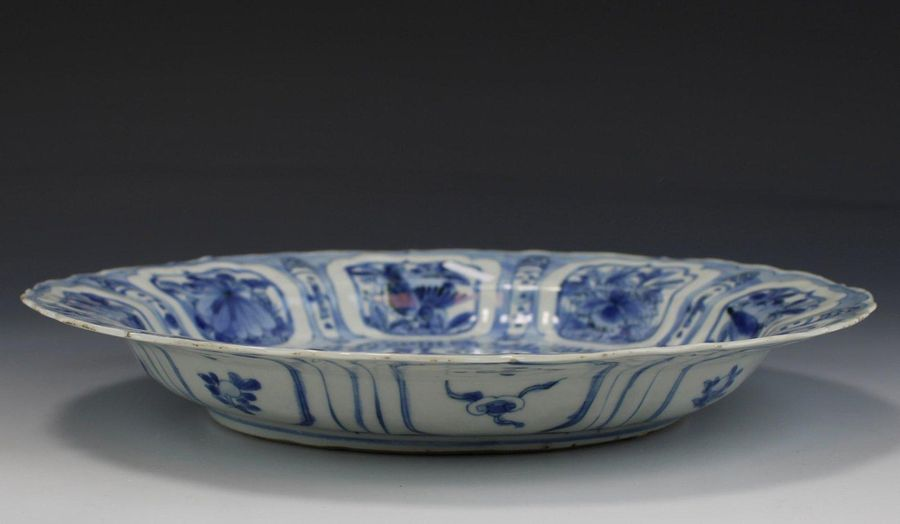 A blue and white kraak plate A blue and white kraak plate, Wanli period, 17th ce…
