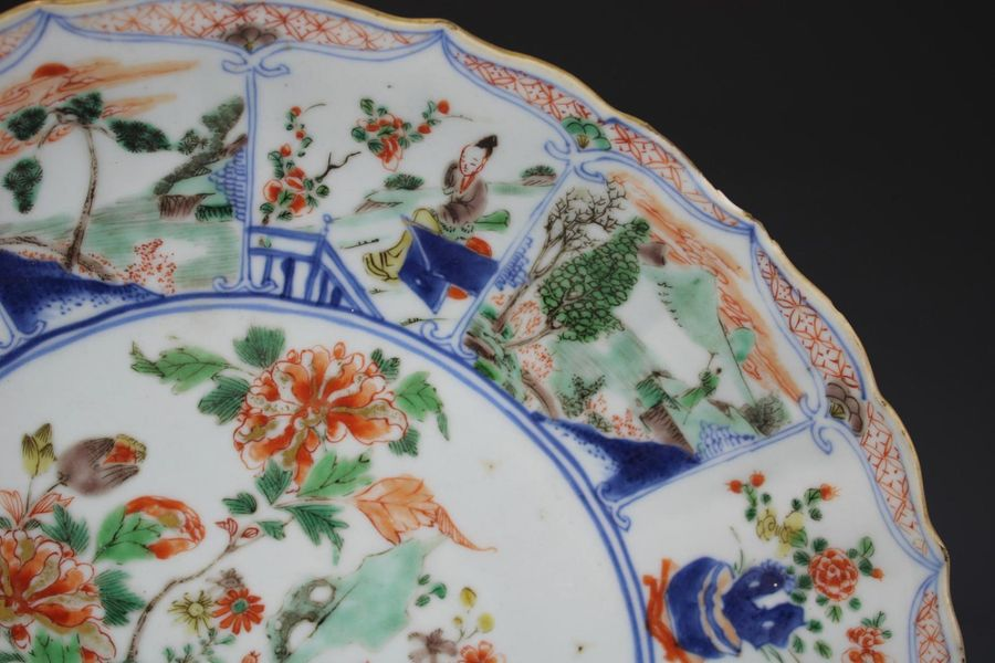 A large famille verte plate A large famille verte plate, Kangxi period, ca. 1700…