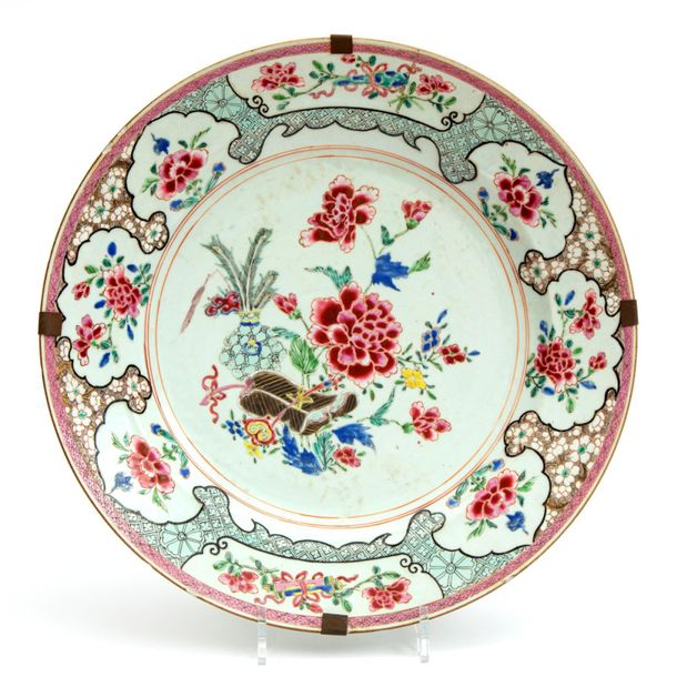 A famille rose floral charger A famille rose floral charger, Yongzheng/Qianlong …