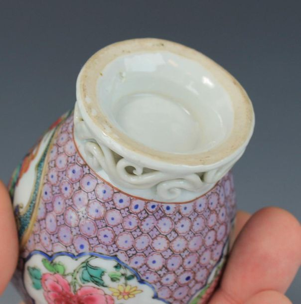 A famille rose tea canister A famille rose tea canister, 18th century, China, A …