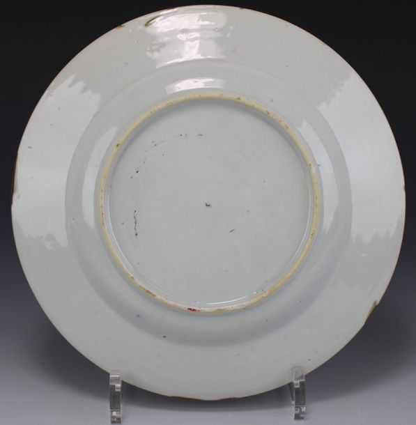 Six Batavia ware plates with decoration in famille rose Six Batavia ware plates …