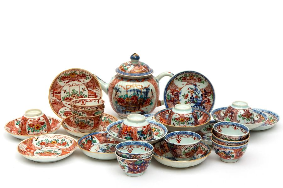 "A selection of ""Amsterdams Bont"" tea wares A selection of ""Amsterdams Bont"" tea …"