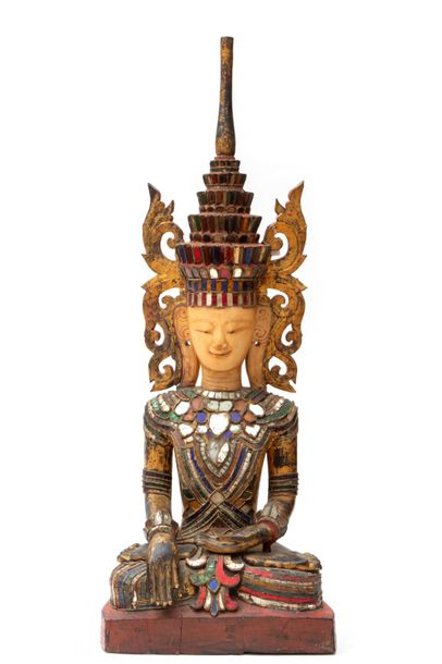 A seated Jambhupati Buddha A seated Jambhupati Buddha, Burma, late 19th century,…