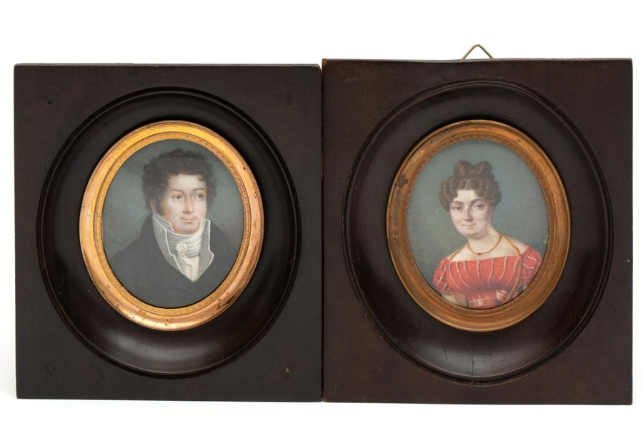 Three portrait miniatures related to Georgina Francina Elgin (1789 1852) Three p…