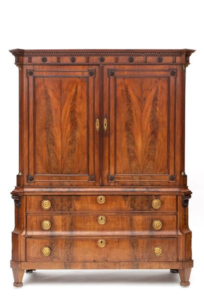 A Dutch ormolu mounted mahogany cabinet A Dutch ormolu mounted mahogany cabinet,…