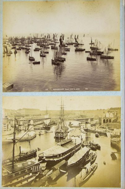 [PHOTOGRAPHS] – ALBUM containing 93 late 19th cent. Photographs (dep. Mainly top…