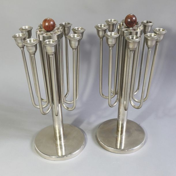 Two large candleholders, chandeliers, metal Two large candleholders/ candelabra.…