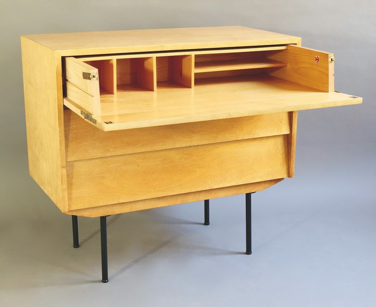 Florence Knoll, Knoll International, Chest with Desk Compartment Model 130 Commo…