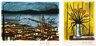 A set of two lithographs in colours, 1981/ unknown, one on wove, each signed in …