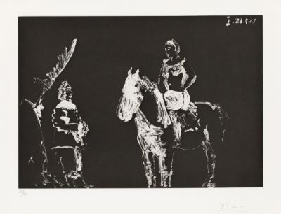 Aquatint, 1968, on Rives, signed in pencil, numbered 32/50 (there were also 17 E…