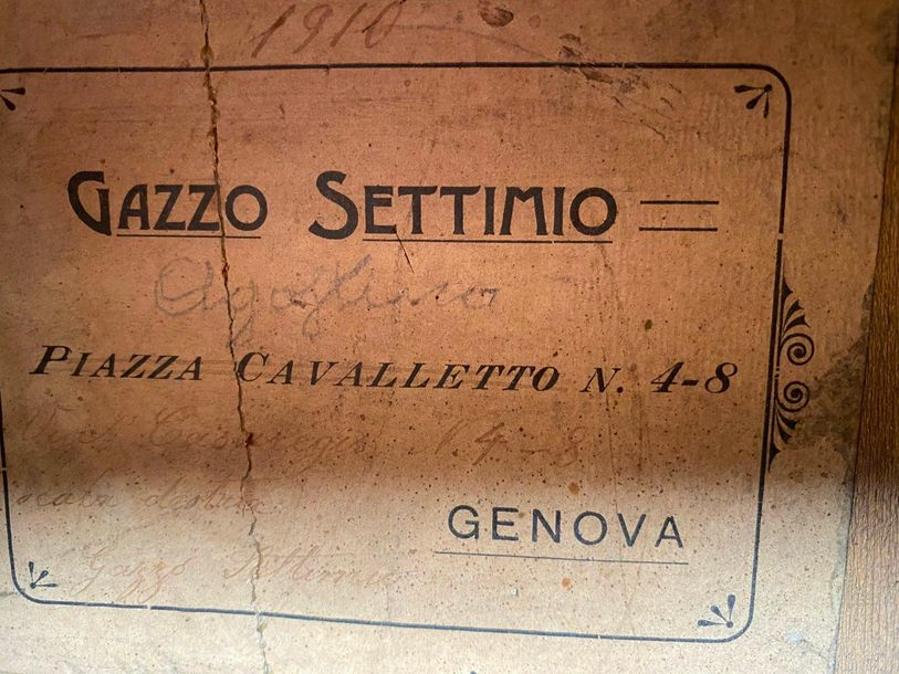 Collection Ricet Barrier Guitare vers 1900 faites par Gazzo Settimio à Genova  M…