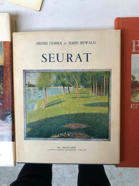 Lot comprenant  BONNARD, Editions Cercles d'art  H.Dorra et J Rewald, SEURAT, Le…