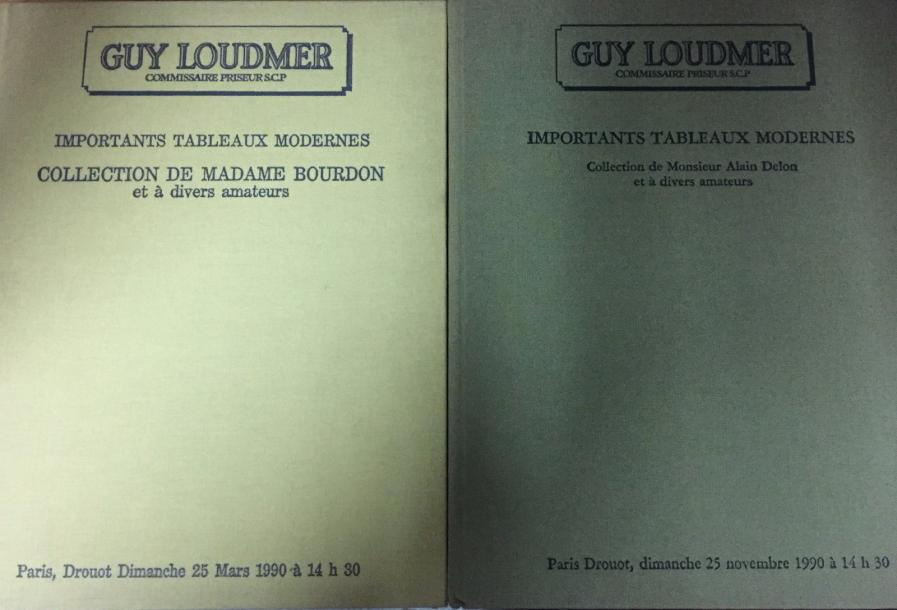 Guy Loudmer, 2 catalogues de ventes Paris 1990 Collection Bourdon, Collection Alain…