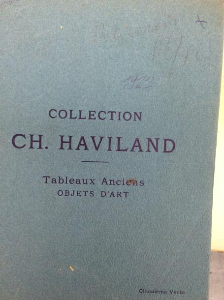 11 catalogues anciens de1920 à 1922  Collections : Kann, Haviland, Sussmani, Tyszkiewicz,…