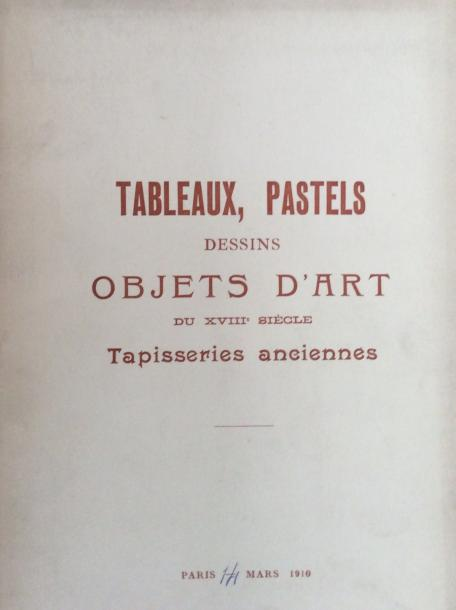 18 catalogues anciens de 1910 à 1911  Collections : de Vogüé, Rouart, Boilesve…