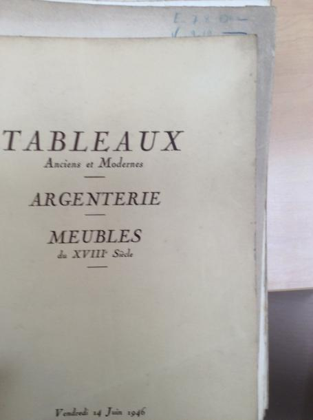 13 catalogues de ventes anciennes  Collection : Ephrussi, Bardac, Montesquiou, Gilbert,…