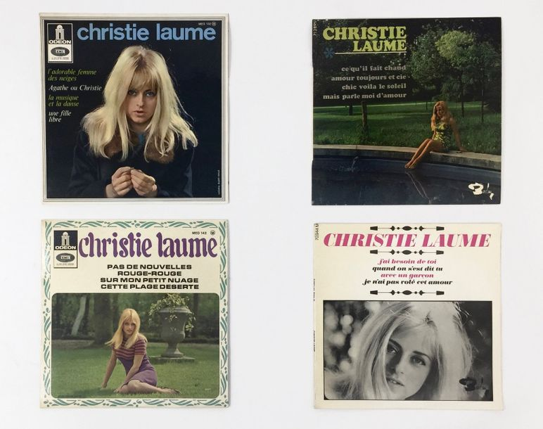 CHANSON FRANCAISE Lot de 4 Eps de Christie Laume. Set of 4 Eps by Christie Laume.…