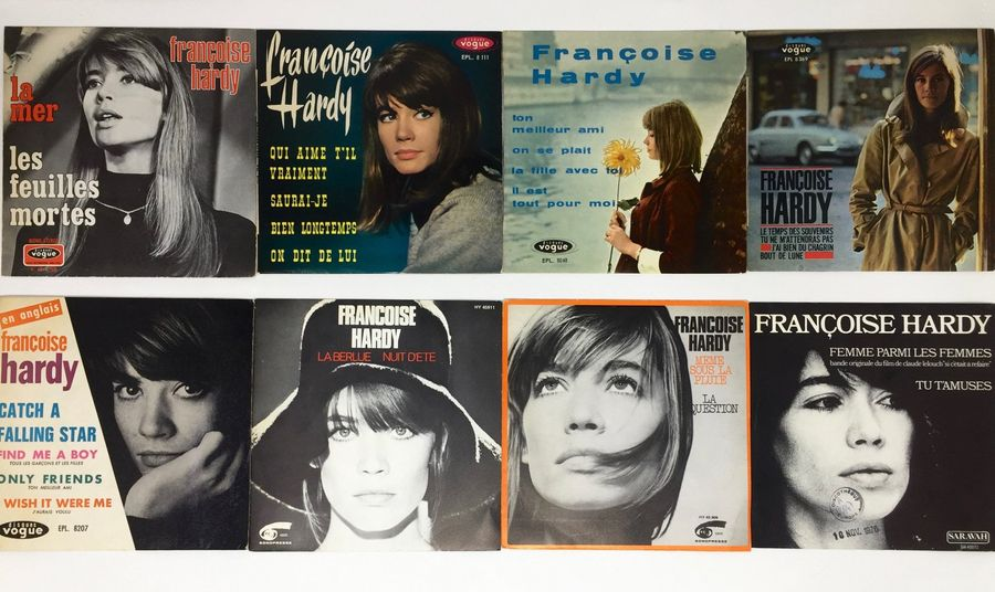 "CHANSON FRANCAISE Lot de 15x 7""/ Eps de Françoise Hardy. Set of 15x 7""/ Eps by F…"