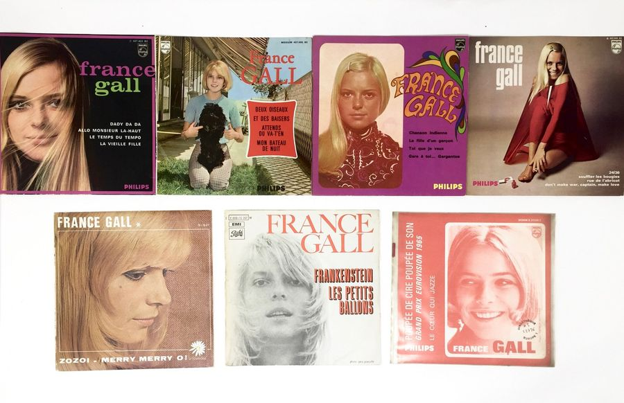"CHANSON FRANCAISE Lot de 7x 7""/Eps de France Gall. Set of 7x 7""/Eps by France Ga…"