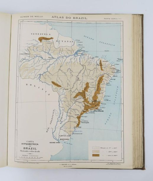 Amérique du Sud HOMEM DE MELLO (baron Francisco Inacio Marcondes). Atlas do Braz…