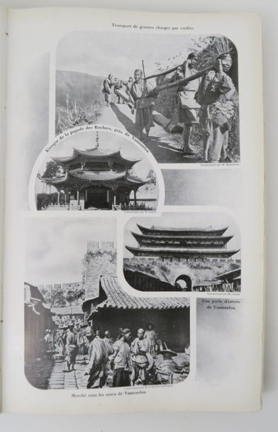 [Chine]. Le chemin de fer du Yunnan. Paris, G. Goury, avril 1910.  2 volumes in …