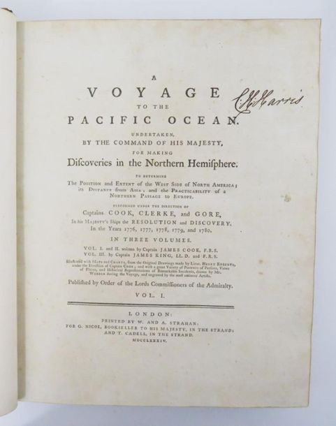 COOK (Capitaine James) & KING (James). A Voyage to the Pacific Ocean undertaken …