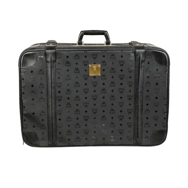 MCM VINTAGE Koffer. MCM VINTAGE travel bag. Visetos edition in black. Strong sig…