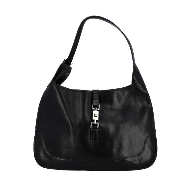 """GUCCI Schultertasche """"JACKIE O"""" GUCCI """"JACKIE O"""" shoulder bag. Leaher in black w…"""