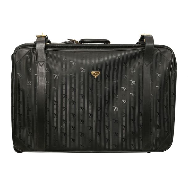MAISON MOLLERUS VINTAGE Koffer. MAISON MOLLERUS VINTAGE travel bag. Black with m…