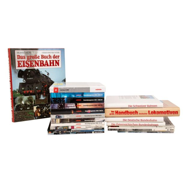 Konvolut Bücher zum Thema Eisenbahn, Convolute of books on the topic of railways…