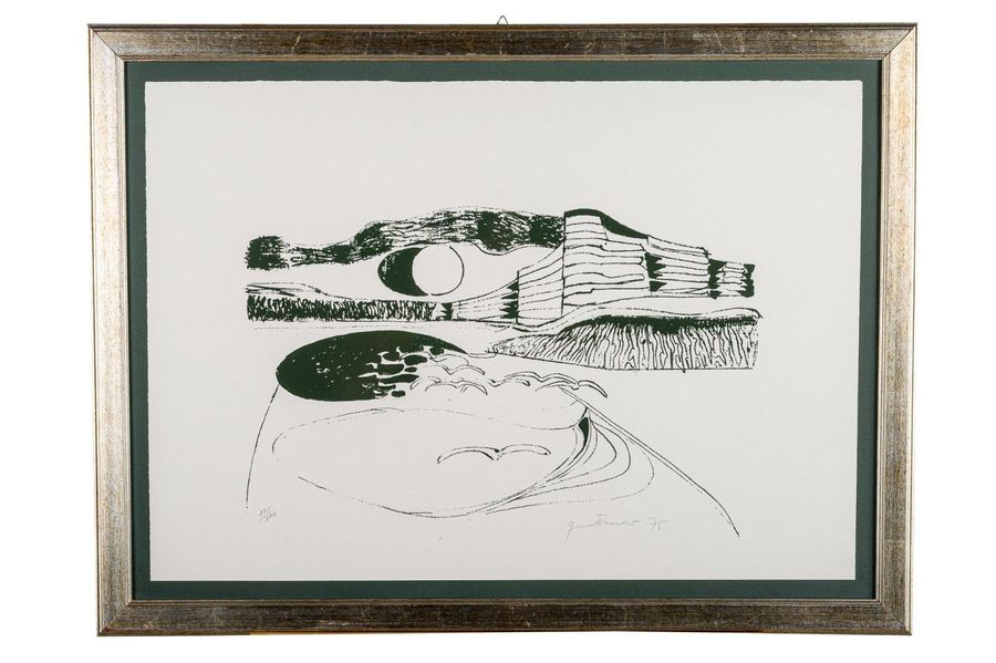 Beach 1975lithograph on paperedition 173/300, signed and dated in pencil, framed…