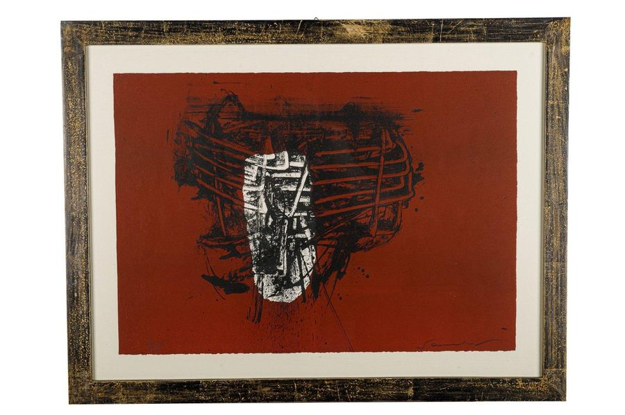 Mario Schifano ( 1934 1998) Abstract20th centurycolor lithograph on paperedition…