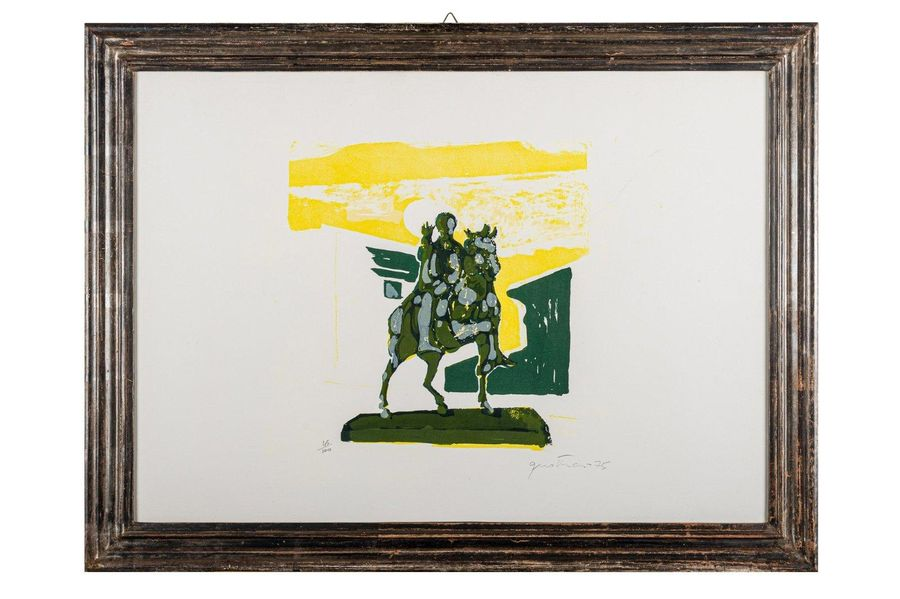 Marcus Aurelius 1975color lithograph on paperedition 45/ 100, signed in pencil, …