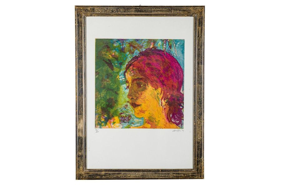 Female portrait 1973screen printing on paperedition 54/60, signed and dated in p…