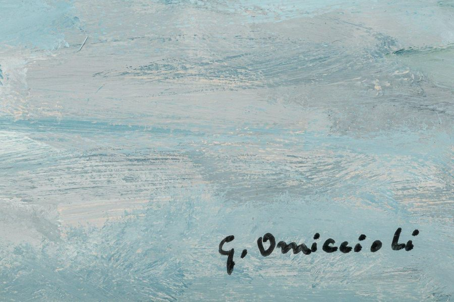 Giovanni Omiccioli ( 190 1 1975) Landscape 1968oil painting on canvassigned, fra…