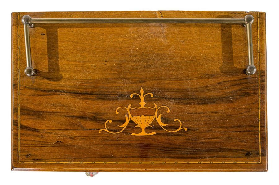 Music cabinetEngland, late 19th centuryin rosewood with fruit wood inlays, glass…