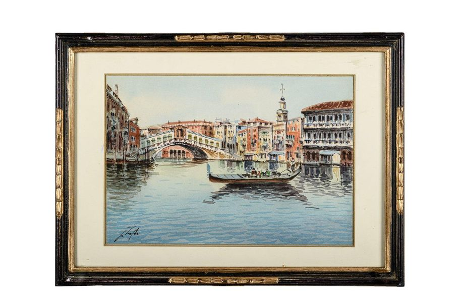 View of Venice late 19th early 20th centurywatercolor and gouache on cardboardsi…