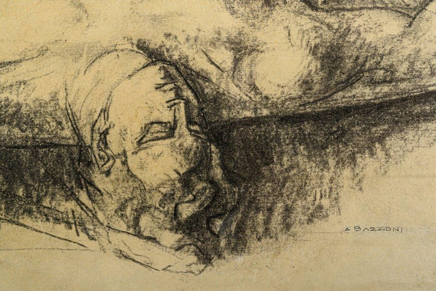Alberto Bazzoni ( 1889 1973) Figure of mancharcoal on papersigned, framed33 x 43…