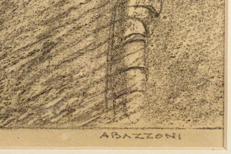 Alberto Bazzoni ( 1889 1973) Without titlecharcoal on papersigned, framed29.5 x …