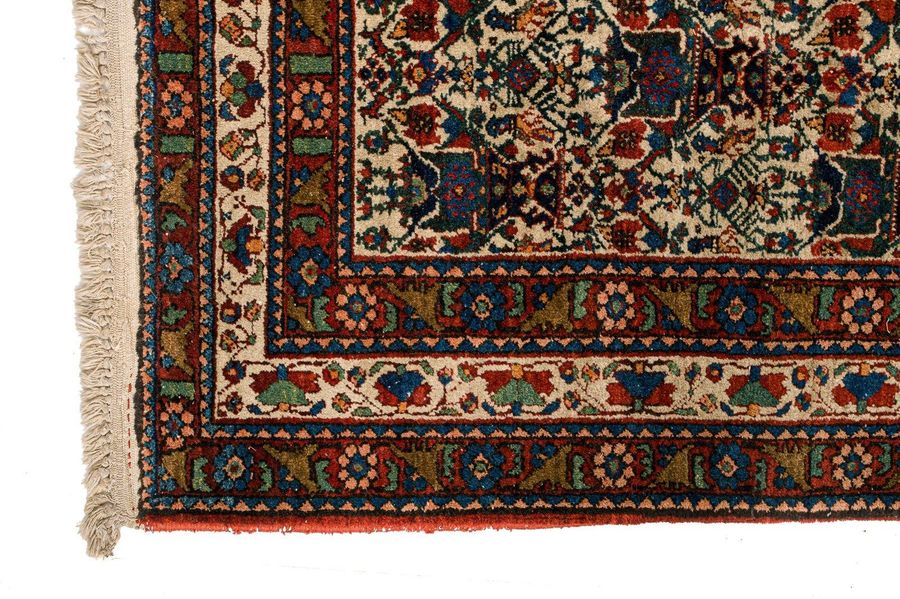 Persian carpet Abadeh late 20th centurywool on cottonstylized vases design2 12 x…