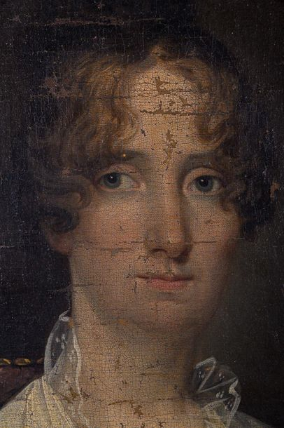 Female portraitFrance, first half of the 18th centuryoil painting on canvaspaint…