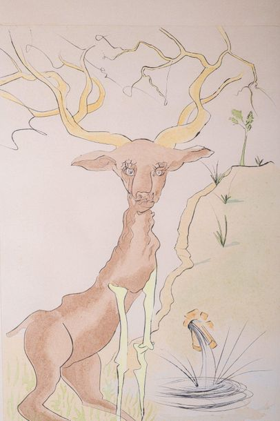 Deer20th centurycolor lithograph on paperedition 1 13/ 120, signed, framed78 x 5…
