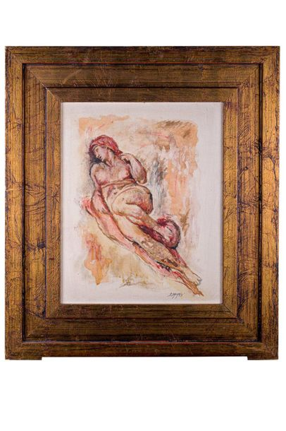 Pietro Salaris ( 1945 ) Michelangelo study20th centurymixed media on canvassigne…