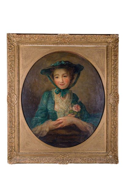 Female portrait late 18th centuryoil painting on woodin frame76 x 63 cm
