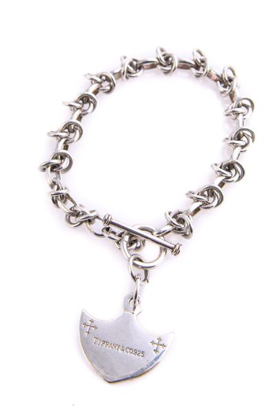 925 silver bracelet model Tiffany & Cochain with shield pendant, weight 28 g