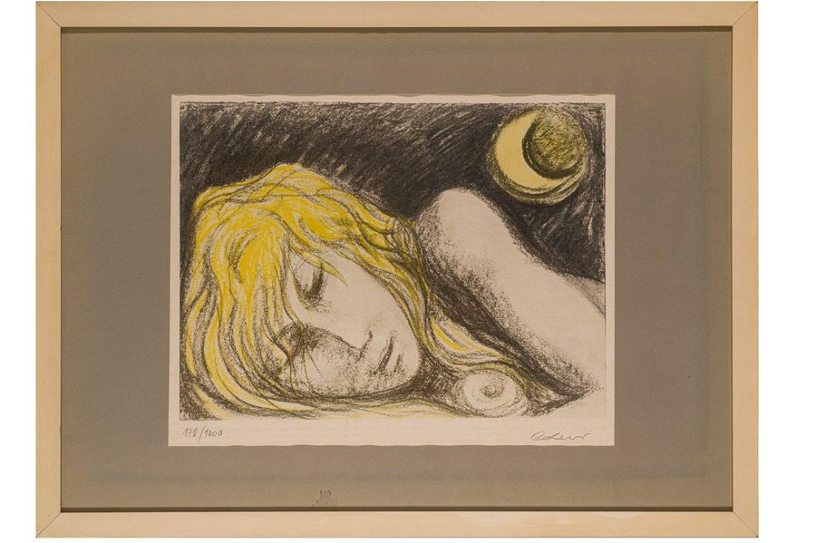 Carlo Levi ( 1902 1975) Nightcolor lithograph on paperedition 178/ 1000, signed …