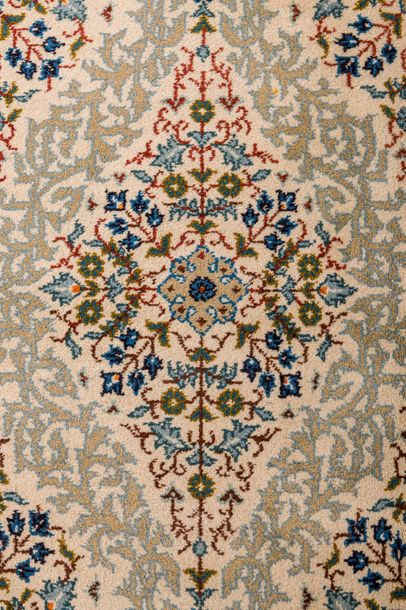 Persian carpet Kashan finesecond half of the 20th centurywool on cottonfloral de…