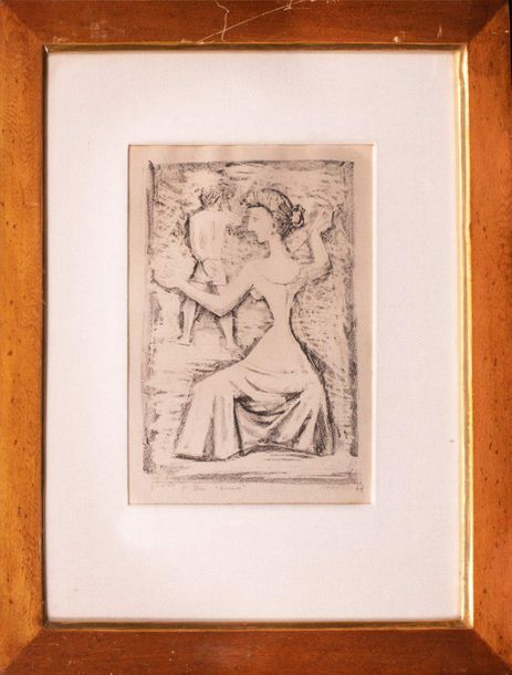Massimo Campigli ( 1895 197 1) Arianna 1948lithograph on papersigned in pencil a…