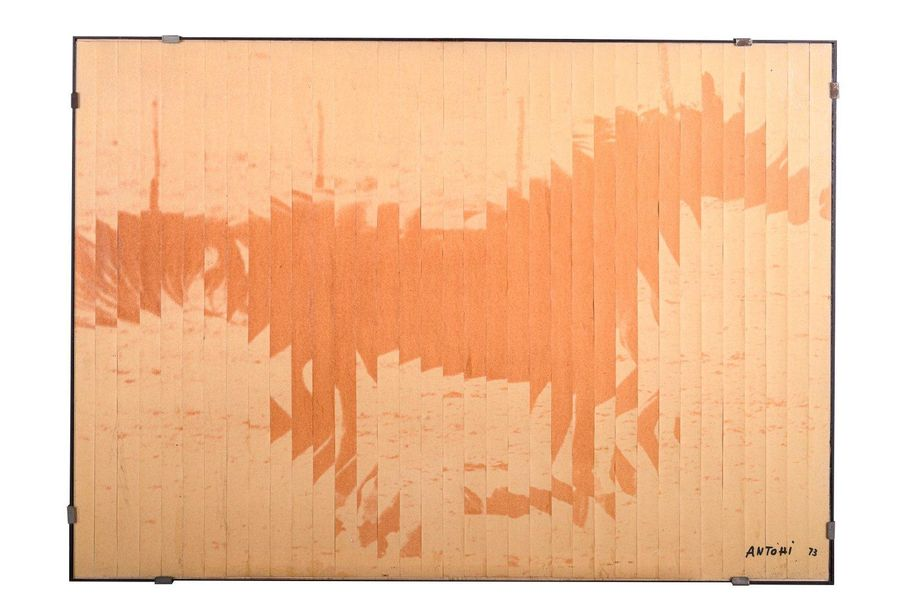 Richard Antohi ( 1927 ) Running horse 1973watercolor on paper, collagesigned and…
