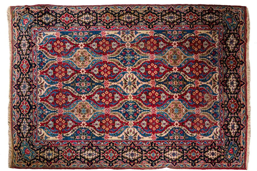 Persian carpet Yazd early 20th centurywool on cottontired357 x 246 cm